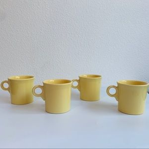 Vintage Fiesta Yellow Mugs